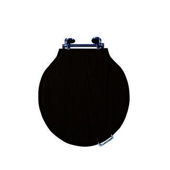 Etoile Solid Wood Toilet Seat With Soft Close Hinge Chrome Finish - 15016