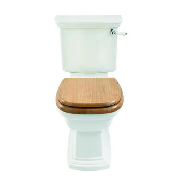 Radcliffe Close Coupled Cistern Black with Pan including Lever and Seat - 15061