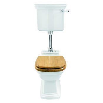 Radcliffe Low Level Cistern With Pan White Inc Seat Traditional  Stylish Toilet