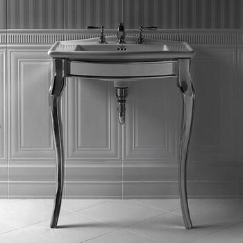 Oban Basin StAnd polished Nickel With Radcliffe Vanity Basin rectangle