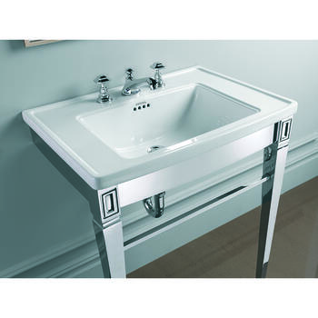 Adare StAnd polished Nickel With Radcliffe Vanity Basin rectangle  High Quality