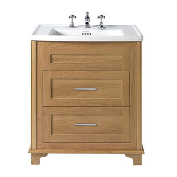 Thurlestone 2 Drawer Vanity Unit 1TH straight Stylish and Stylish Bathroom Accessory