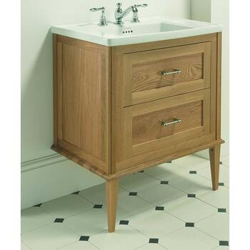Radcliffe Thurlestone Wall Hung Vanity Unit 1TH including Front Wooden Legs curved Wall Hung Designer and Stylish Bathroom Accessory