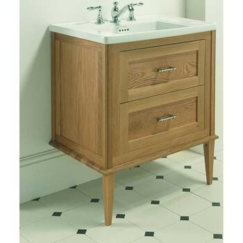 Radcliffe Thurlestone Wall Hung Vanity Unit 3TH including Front Wooden Legs curved Wall Hung Unique Design Bathroom