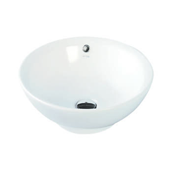 2009 Expressions Vessel Bowl Curved Round Countertop Designer and Stylish Bathroom Accessory