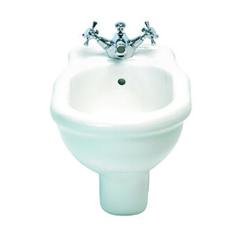 Firenze Wall Hung Bidet White With Wall Hung Bracket Kit Curved Traditional Design