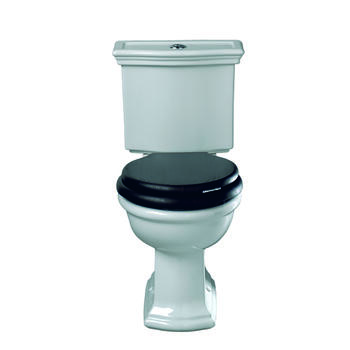 Firenze Close Coupled Cistern Push Button Chrome With Pan And Seat curved High Quality