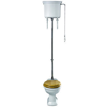 Firenze High Level Cistern Lever With Pan & Seat - 15132