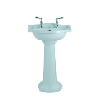 Drift Small Basin 540mm White With Pedestal White - 15139