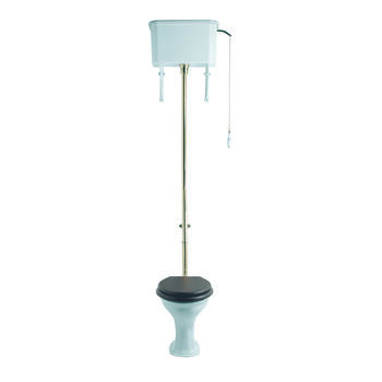 Drift High Level Cistern With Pan Including Seat - 15147