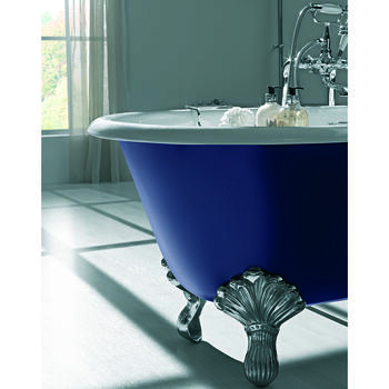 Bentley Double Ended Bath 0TH With Swan Feet - 15211