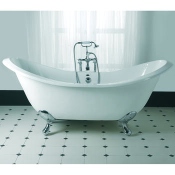 Sheraton Double Ended Round Slipper Bath 0TH With G+H Feet