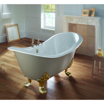 Sheraton Double Ended Slipper Round Bath 2TH With LIon Foot