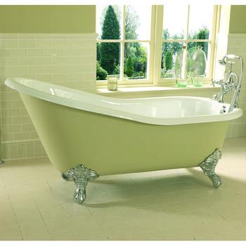 Ritz Slipper Bath 0TH 1540mm With Imperial Feet - 15223