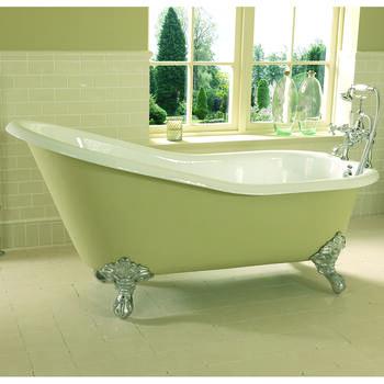 Ritz Slipper Bath 2TH 1540mm With Imperial Feet - 15224