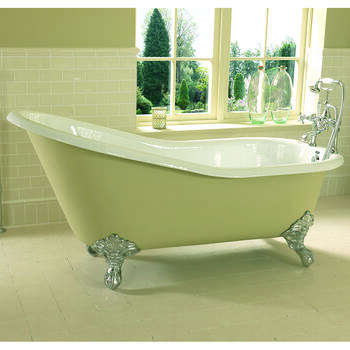 Ritz Slipper Bath 0TH 1700mm With Imperial Feet Ellegant Bathroom