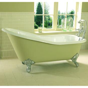 Ritz Slipper Bath 0TH 1700mm With Imperial Feet - 15225