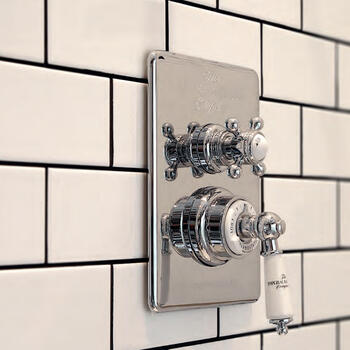 Concealed Victorian Thermostatic Dual Control Valve round