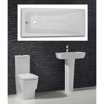 Cubix complete Bathroom Suite - 15553