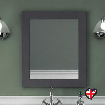 Insolito Carolla Bathroom Wall Mirror (Charcoal Grey) square Contemporary