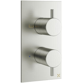 Mike Pro Thermostatic Shower Valve 1500 Brushed Steel rectangle