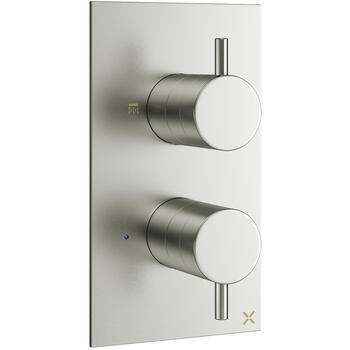 Mike Pro Thermostatic Shower Valve 1510 Brushed Steel rectangle
