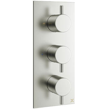 Mike Pro Thermostatico Brushed Steel Shower Valve 2000 rectangle