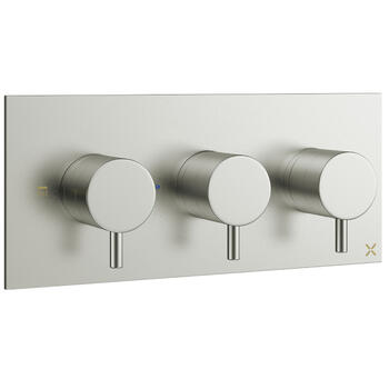 Mike Pro Brushed Steel Thermostatic Shower Valve 2001 rectangle