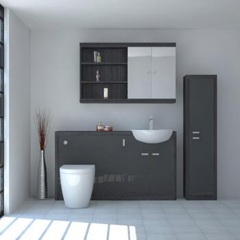Hacienda 1500 Fitted Furniture Pack Grey - 16028