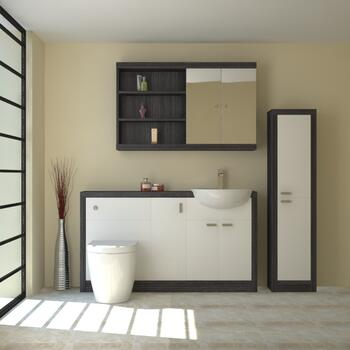 Hacienda 1500 Fitted Furniture Pack White - 16032