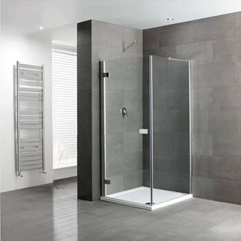 Volente Frameless hinge Door Silver Shower enclosure - 16947