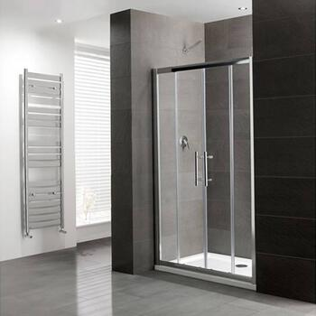 Volente Double sliding Door Silver Shower Enclosure  Bathroom