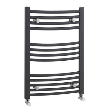 Grey Curved Ladder Rail High Quality Bathroom Curved Towel Rail