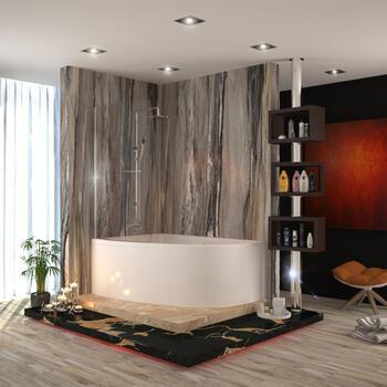Clia Left Hand Corner Bath And Panel & screen - 174528
