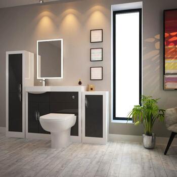 Apollo Bathroom Suite (Grey) - 174535