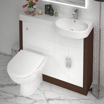 Lucido 1000 Fitted Bathroom Furniture Set RH (colour options) High Quality
