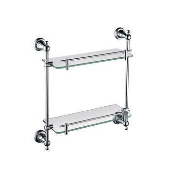 Holborn Double Glass Shelf Chrome - 174684