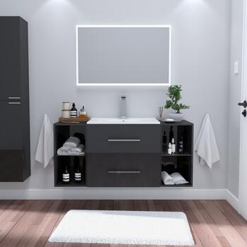 1170 wide grey bathroom sink vanity