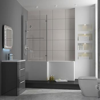Bathroom suite en suite bathrooms sale at bathroom city for Grey bathroom suite ideas