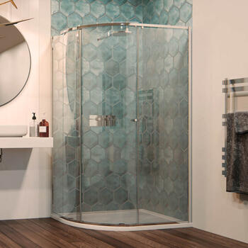 Matki One Curved Corner with Shower Tray for Stylish Bathroom