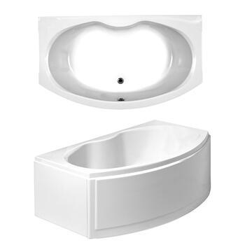 Corsica Bath Front & End Panels D Shape Jacuzzi Bath
