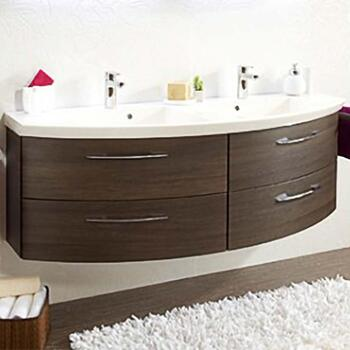 Cassca Double Bathroom Vanity Unit 1510mm 4 Deluxe Drawers - 175431