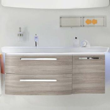 Luxury wall hung design Contea Bathroom Wall Hung Vanity Unit 1 Door 2 Drawers