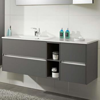Solitaire 6010 1320 Bathroom Vanity Unit LH or RH with 4 Drawers and Shelf - 175538