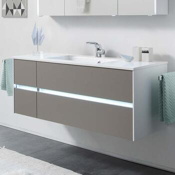 Solitaire 6010 1320 Bathroom Vanity Unit LH or RH 4 Drawer - 175539