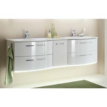 Solitaire 7025 4 Drawer 1 Door His And Her's 1700 Bathroom Vanity Unit
