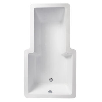 TRIDENT Inset Bath 240 Litres Shower Jacuzzi Bath