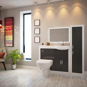 Apollo Bathroom Suite Grey - 175752