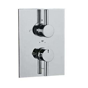 Florentine Elegant Chrome Thermostatic Concealed Bath and Shower Valve 20mm with Built In Non Return Valves, HP 1.0