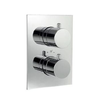Florentine Thermostatic Bathroom Chrome Concealed High Flow Shower Valve 20mm with Built-in Non Return Valves, HP 1.0